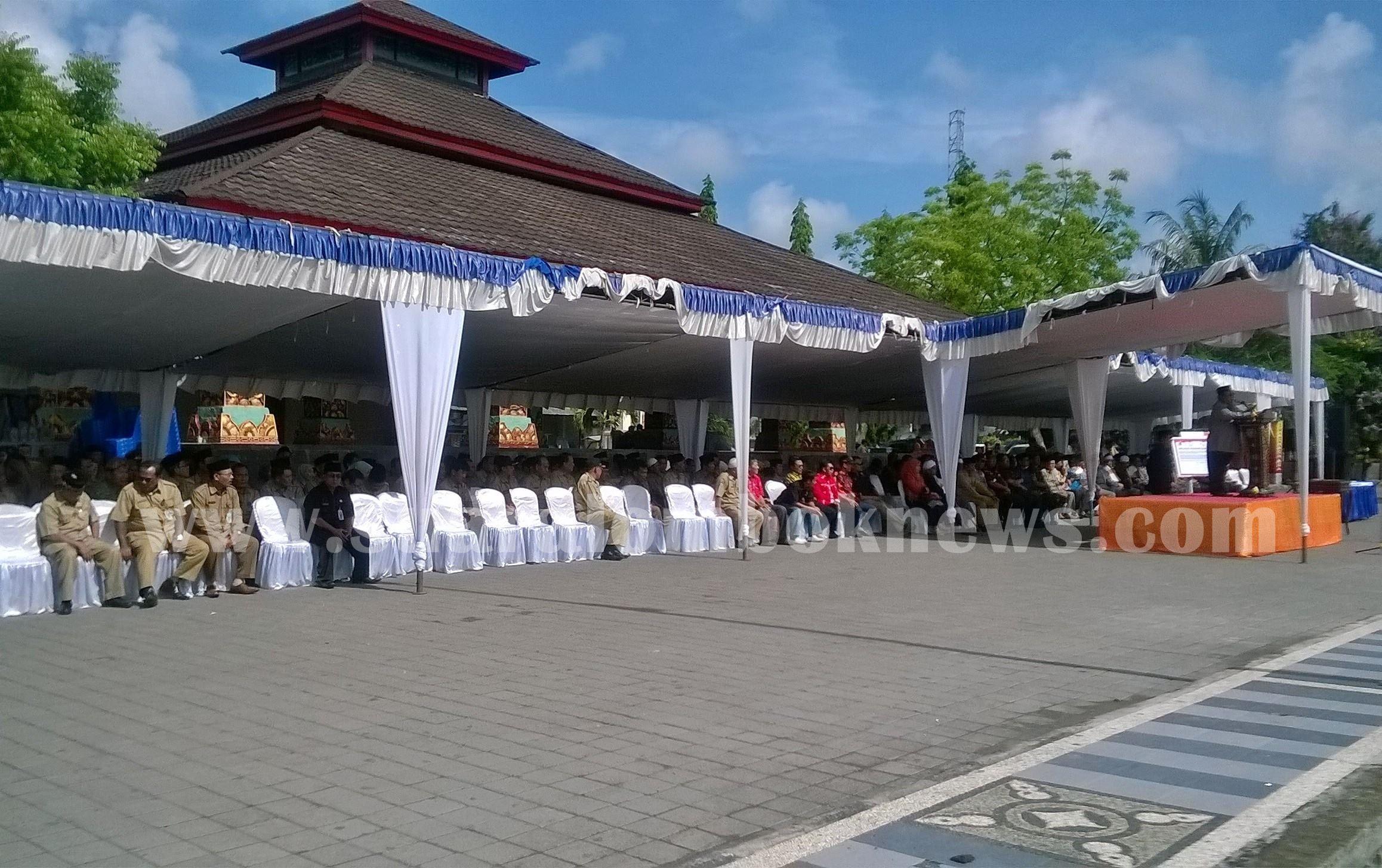 Upacara Besar Kebinekaan Cinta Damai di Lombok Tengah Berlangsug Khidmad
