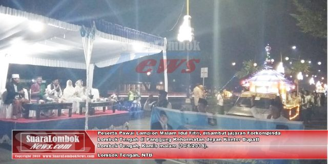 Gema Takbir dan Lomba Lampion Meriahkan Malam Takbiran di Lombok Tengah