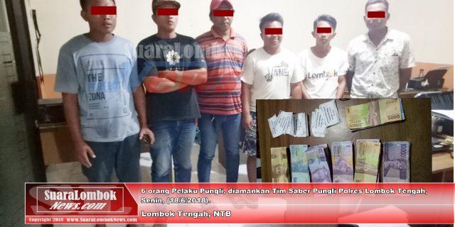OTT, 6 Jukir  Pantai Selong Belanak Diciduk Polisi