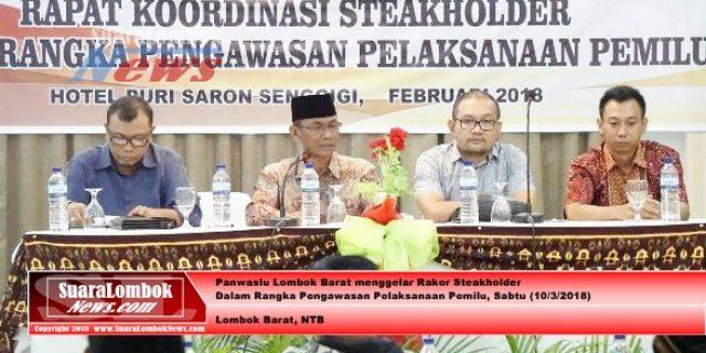 Gelar Rakor Steakholders, Panwaslu Lombok Barat Bantah Bekerja Lamban