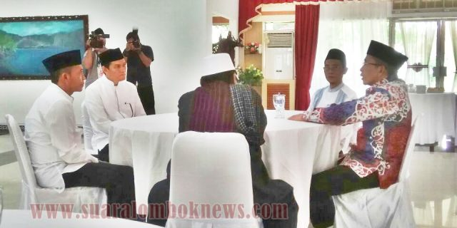 Jajaran SKPM Loteng Silaturahim ke Kapolda dan Gubernur NTB