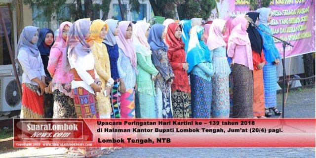 Hari Kartini di Lombok Tengah, Seluruh Petugas Upacara  Adalah Perempuan