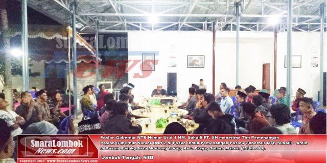 Pilgub NTB 2018, Tim Pemenangan Ahyar- Mori  Berlabuh ke Suhaili-Amin