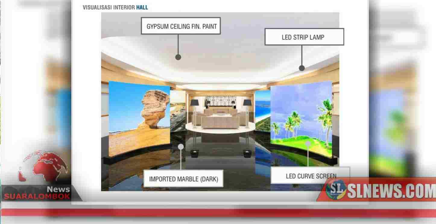 Landscape dan Interior Ruangan Kantor Bupati Lombok Tengah Dikerjakan Tahun Ini