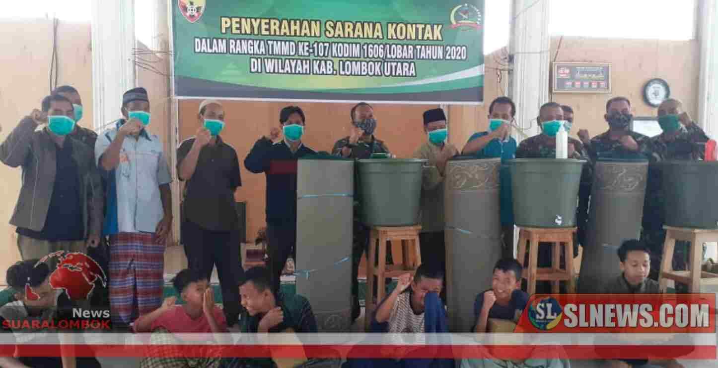 Di Lokasi TMMD 107, Danstagas Salurkan Bantuan Ke Masjid