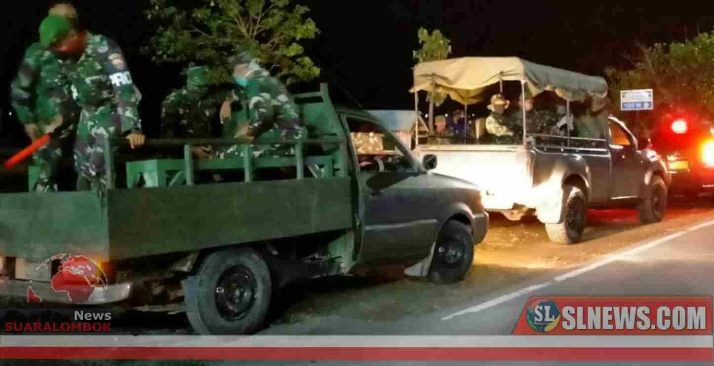 Bersama Perang Melawan Covid-19, TNI-Polri di NTB Gelar Patroli Gabungan