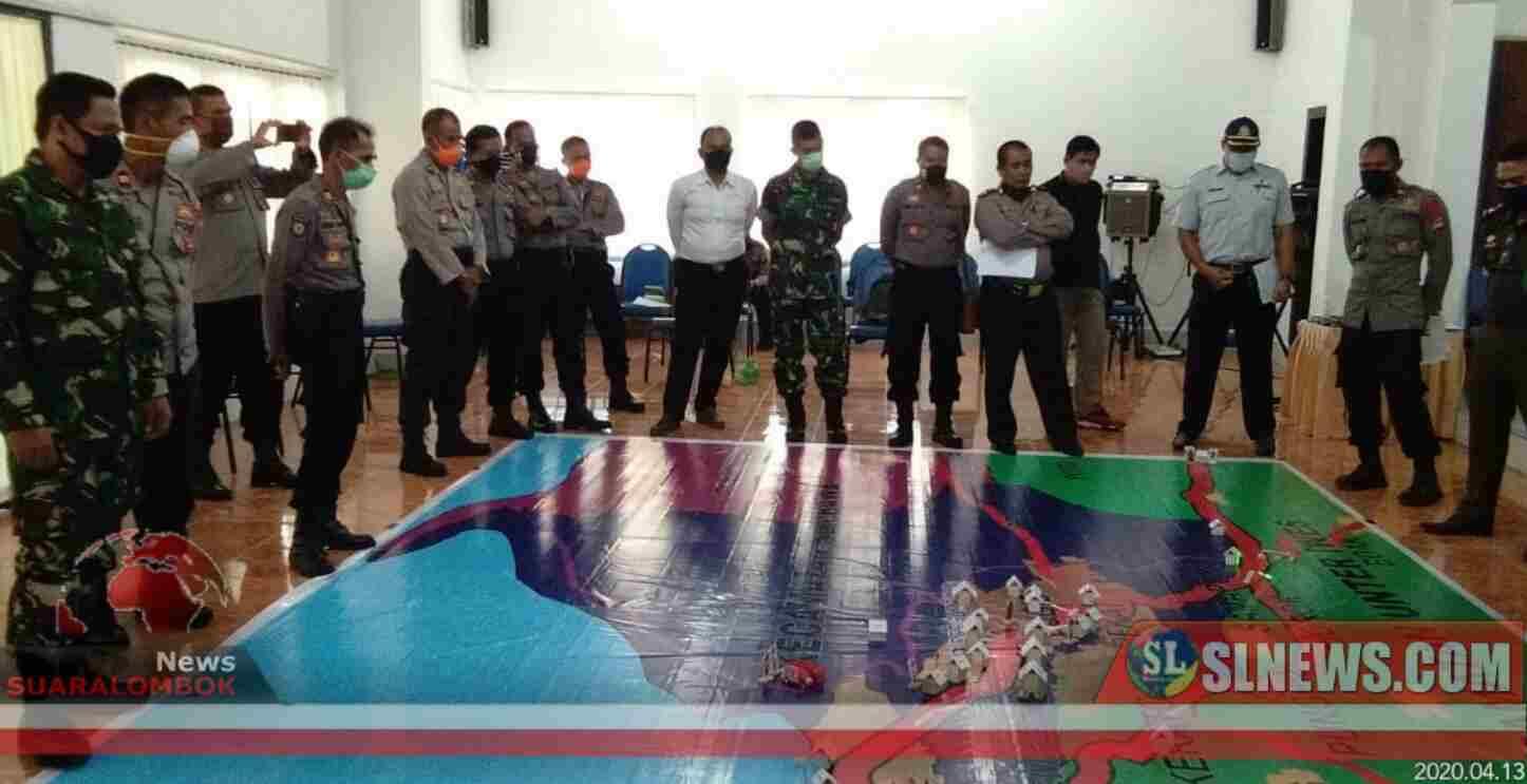 Bersama Perang Melawan Covid-19, Tentara dan Polisi Antisipasi Kontijensi PSBB di Sumbawa