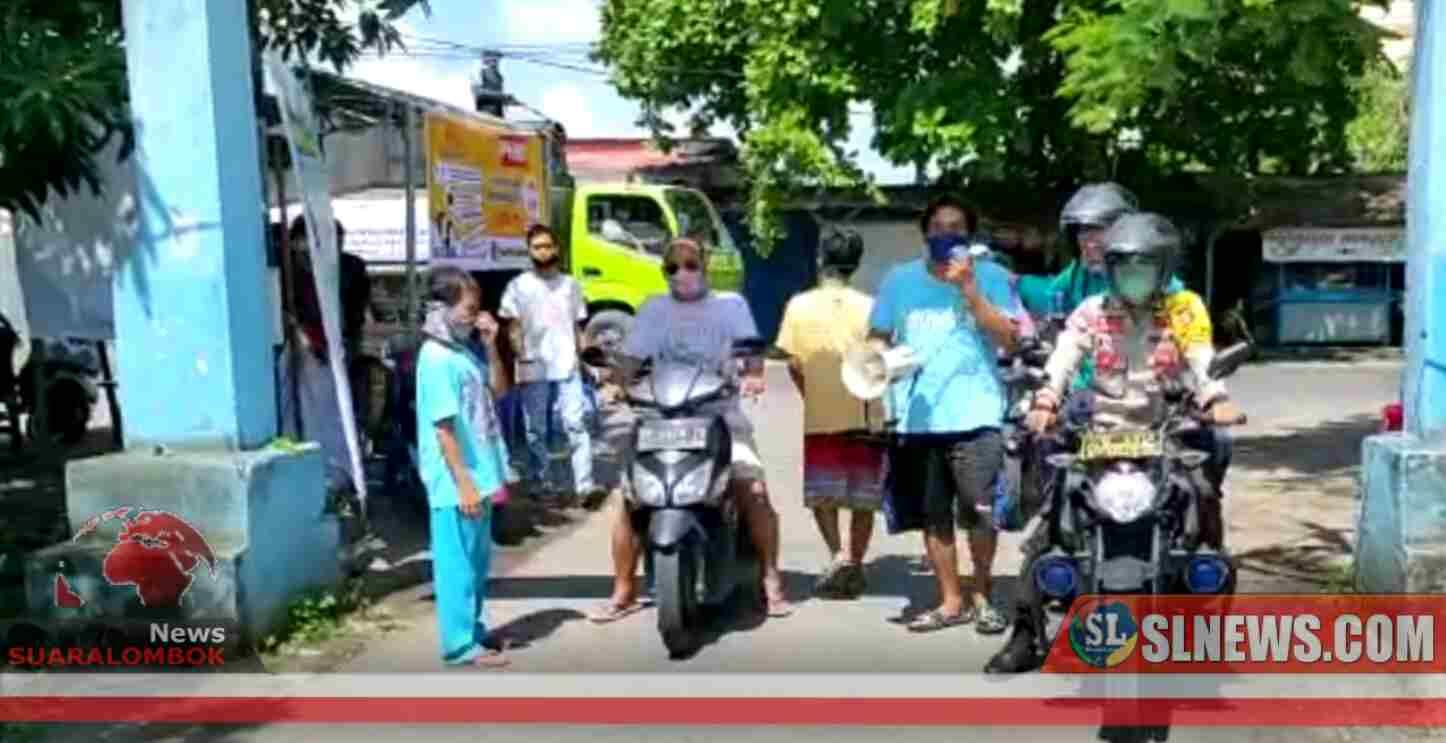 Cegah Covid-19, Masuk ke Lingkunggan Perumnas Tampar Ampar Wajib Pakai Masker dan di Semprot Disinfektan