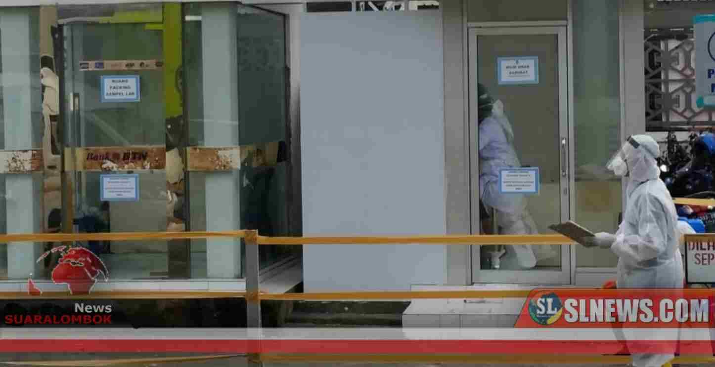 Tim Siaga Covid-19 RSUD Praya Sulap Ruang ATM Jadi Bilik Swab Darurat