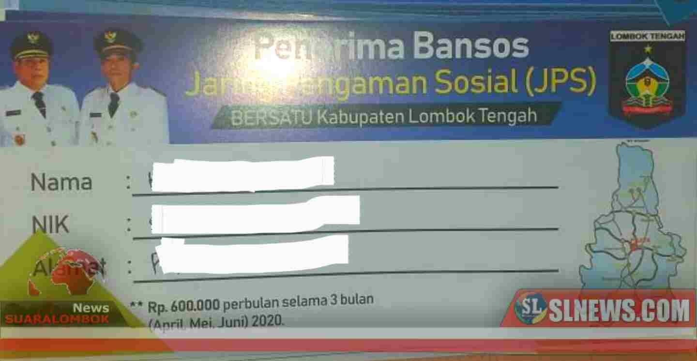 Catat Jadwal Penyaluran JPS Bersatu Lombok Tengah