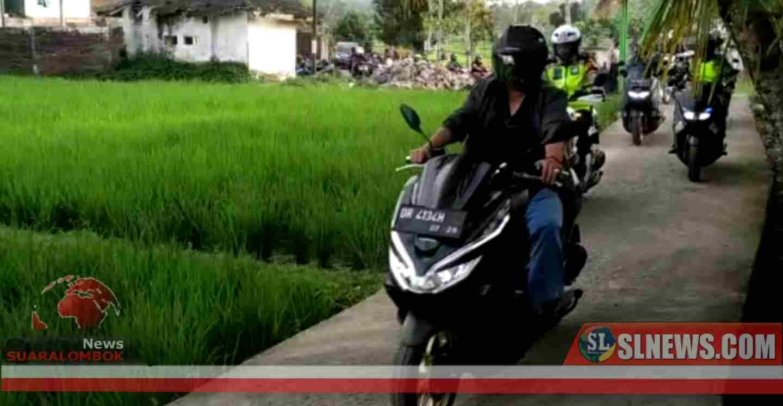 Kendarai Sepeda Motor Bersama Forkopimda, Bupati Lombok Tengah Keliling ke Desa - Desa