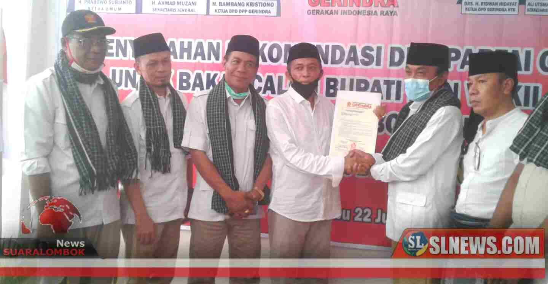 Yel - yel Maiq-Meres Menang di Acara Penyerahan Rekom Gerindra ke Pathul - Nursiah