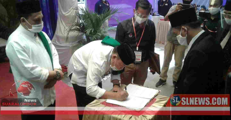 KPU Lombok Tengah Terima Berkarya Jadi Pengusung Masrun - Habib