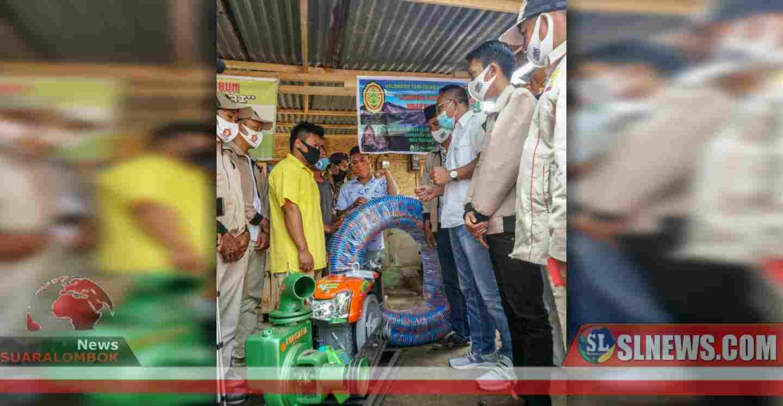 Kekeringan Mengancam, HBK Serahkan Bantuan Pompa Air di Lombok Utara
