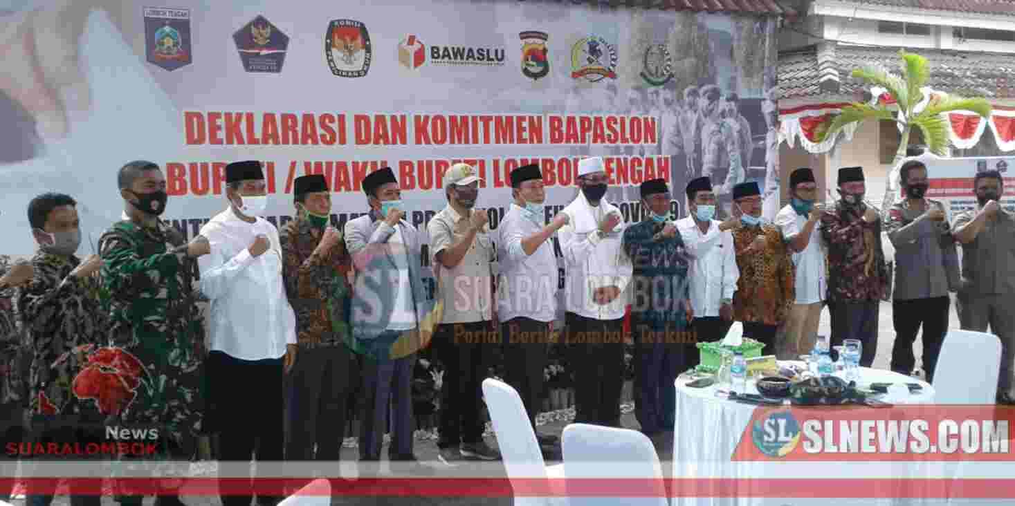 5 Bapaslon di Lombok Tengah, Sepakat dan Berkomitmen Patuhi Prokes Covid - 19