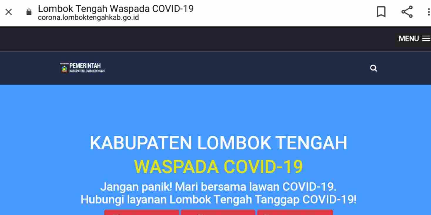 Pilkada Digelar, Gugus Tugas Covid-19 Lombok Tengah Buka Layanan Informasi Situasi Corona