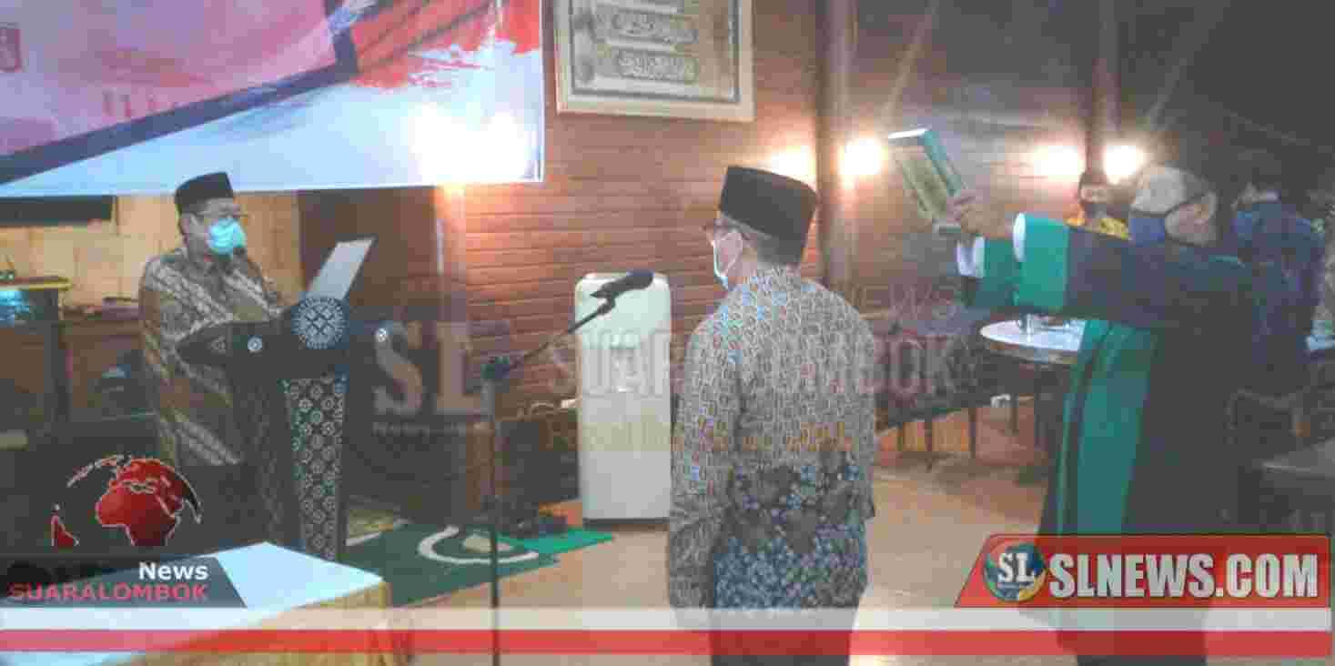 Suhaili Lantik Lalu Idham Jadi Penjabat Sekda Lombok Tengah