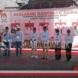 Di Deklarasi Kampanye Damai dan Sehat, Peserta Pilkada Lombok Tengah Sepakat Taati Prokes Covid-19