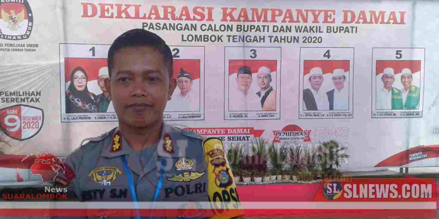 Paslon Bupati dan Wakil Bupati Lombok Tengah Dikawal 18 Polisi Bersenjata Lengkap