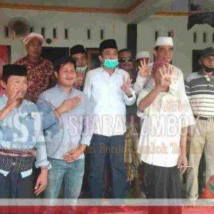 Acungkan 4 Jari, Datu Siledendeng Siap Menangkan Pathul - Nursiah di Pilkada Lombok Tengah 2020