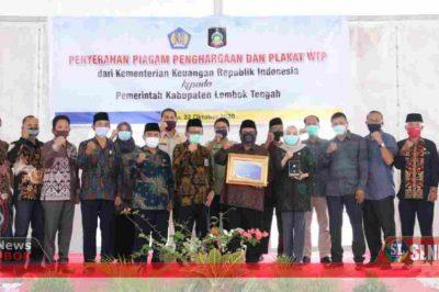 Penghargaan dan Plakat WTP ke 8 Lombok Tengah 2020