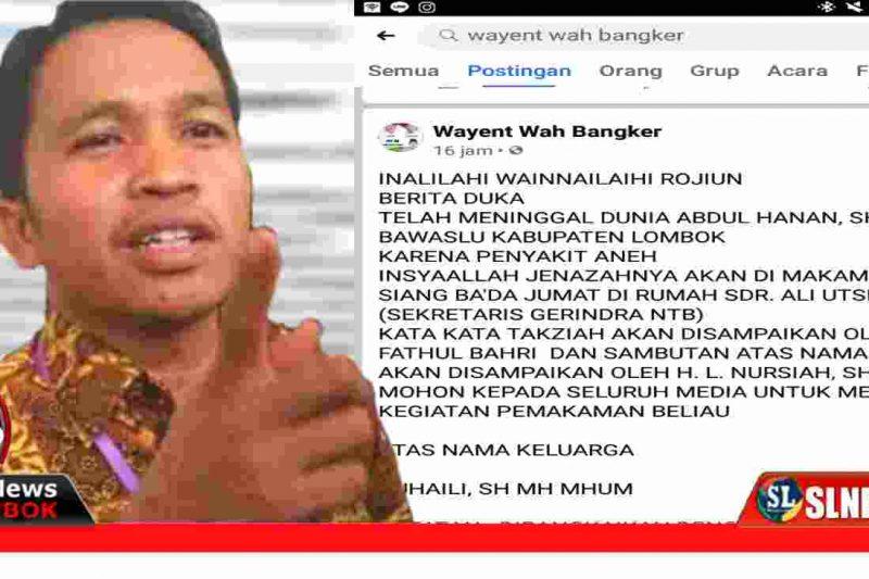 Ketua Bawaslu Lombok Tengah