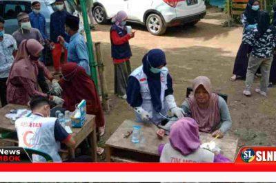Baksos pemeriksaan kesehatan dan penggobatan keppada warga korban banjir