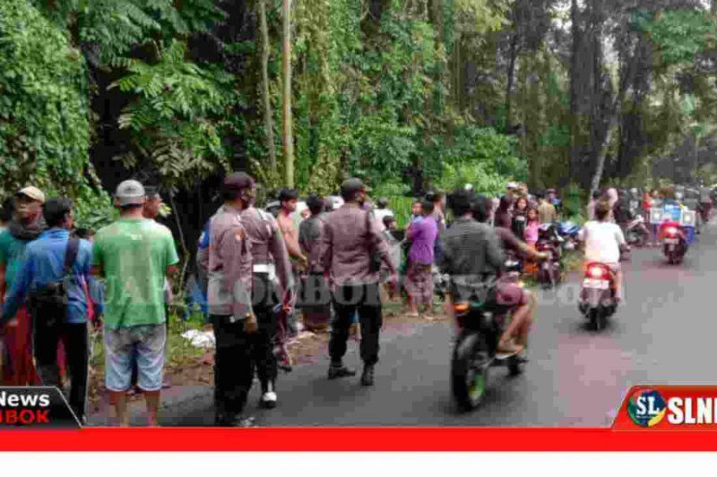 Truck Box Masuk Jurang di Lombok Tengah