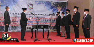 Pelantikan Direksi dan Dewas PDAM Lombok Tengah