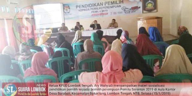 Sukseskan Pemilu Serentak 2019, KPU Lombok Tengah Sasar Pemilih Perempuan