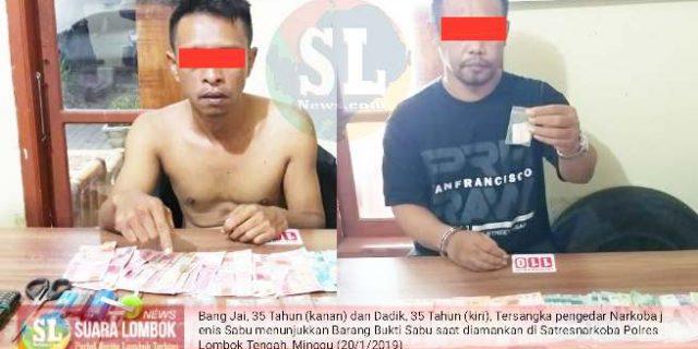 Polisi Ciduk Dua Bandar Sabu di Lombok Tengah