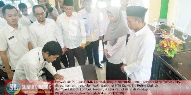 Tandatangani Kontrak Kerja, P3MD Diminta Sukseskan Pembangunan di Desa