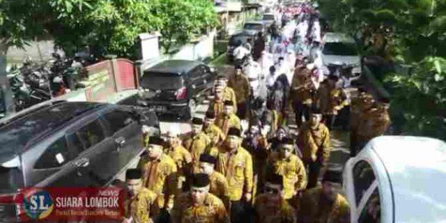 Diikuti 12 Kecamatan, Pawai MTQ ke – XXVIII Lombok Tengah Berlangsung Meriah