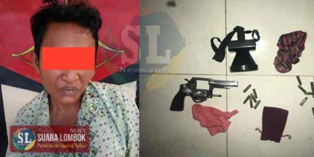 Curi Pistol milik Anggota Polri, Pria 52 Tahun asal Desa Mujur di Door Polisi
