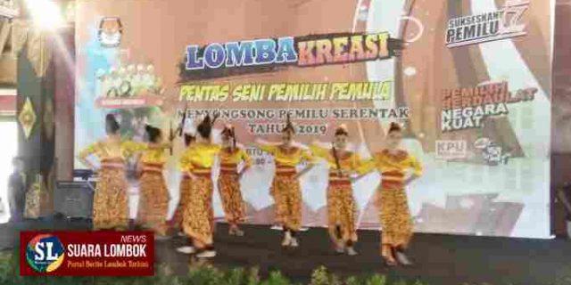 Sasar Pemilih Pemula Pemilu 2019, KPU Lombok  Tengah Gelar Lomba Kreasi Pentas Seni