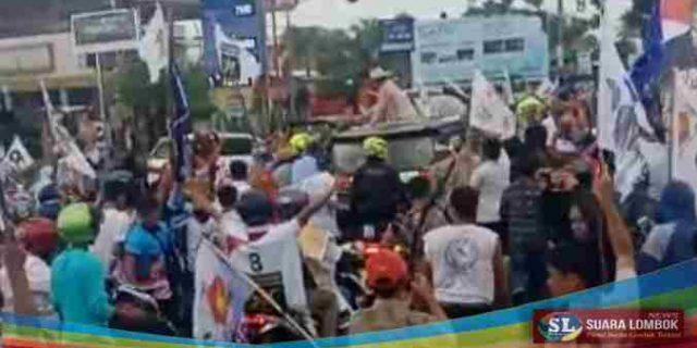 Teriakan Prabowo Presiden Menggema di Lombok