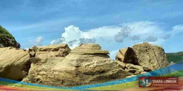 Objek Pariwisata Batu Payung di Lombok Tengah Runtuh