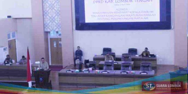 Ini Pendapat Kepala Daerah Terhadap Ranperda Perlindungan Mata Air di Lombok Tengah