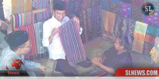 Ditemani doktor Zul, Presiden Jokowi Borong Kain Tenun Sasak di Sade
