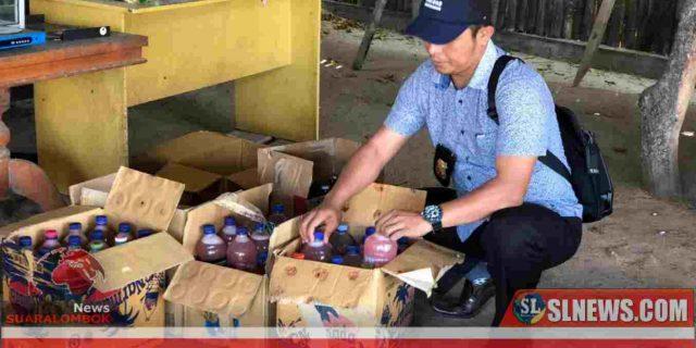 Cipkon Lebaran Topat, Polres Lombok Tengah Sita Ratusan Liter Miras