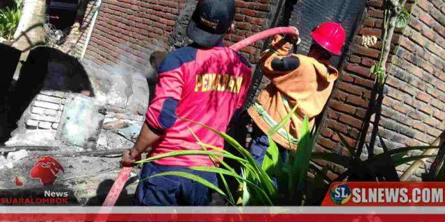 Tiga Open Tembakau di Kecamatan Praya Timur Hangus Terbakar