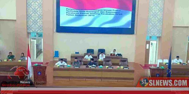 Dewan Lombok Tengah Setuju Ranperda Perubahan APBD 2019 Dibahas Lebih Lanjut