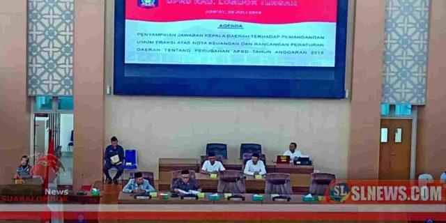 Ini Jawaban Pemkab Lombok Tengah Terhadap Pandangan Umum Fraksi DPRD