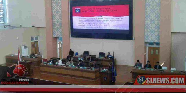 Banggar DPRD Sampaikan Laporan Pembahasan Nota Keuangan dan Ranperda Perubahan APBD Lombok Tengah 2019