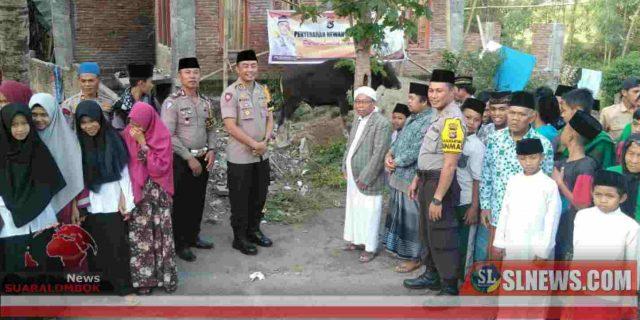 Idul Adha 1440 H,  Polres Lombok Tengah Bagi – Bagi Hewan Kurban ke Panti Asuhan dan Ponpes