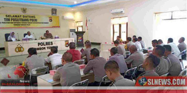 Puslitbang Polri Teliti Tingkat Kepercayaan Masyarakat di Lombok Tengah