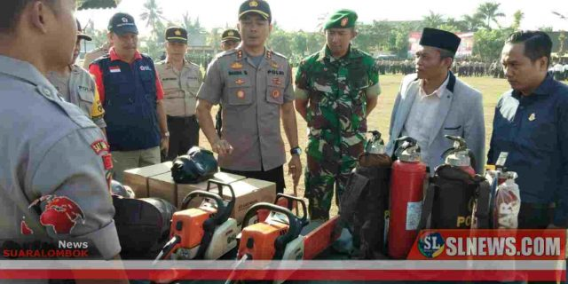 AKBP Budi Santosa Pimpin Apel Kesiapsiagaan Karhutla di Lombok Tengah