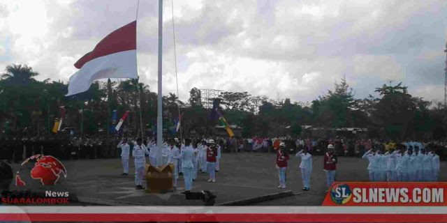 Bupati Lombok Tengah Pimpin Upacara HUT RI ke 74 di Bencingah Adiguna