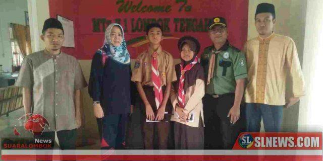 Dua Siswa MTsN 1 Lombok Tengah Ikut Kemah Budaya Nasional di Padang Panjang