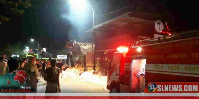 Diduga Korsleting Listrik  Saat Live Musik, Bar dan Resto di KEK Kuta Mandalika Hangus Terbakar